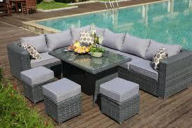 rattan corner sofa papaver range 9 seater rattan corner sofa dining set garden