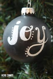 lettered chalkboard ornaments here comes the sun