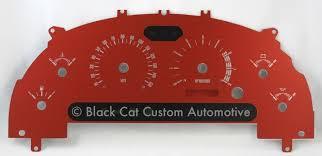 mustang custom gauges black cat custom automotive mustang in stock specials