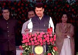 Maharashtra Cabinet Ministers Devendra Fadnavis Takes Oath As Bjp U0027s First Cm In Maharashtra