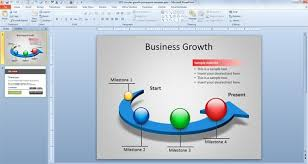free circular growth powerpoint template