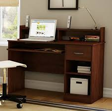 Small Hutch For Desk Top Small Wood Computer Desk Amazon Com