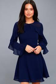 blue dress lovely navy blue dress sleeve dress skater dress
