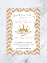 princess baby shower pink and gold floral princess baby shower invitation floral crown