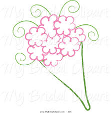 wedding flowers drawing bridal clipart of a drawing of a wedding bouquet with pink flowers