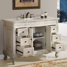 single sink vanity with drawers 48 perfecta pa 113 bathroom vanity single sink cabinet white oak