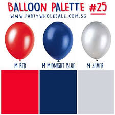 balloon wholesale blue colour party inspiration helium balloons palette 25 party