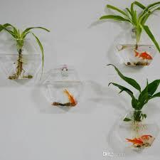 hexagon wall hanging glass vase wall glass fish tank wall decor