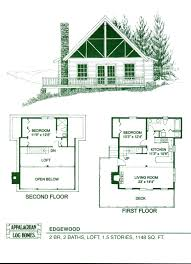small cabin floor plans loft cottage home blueprints exceptional