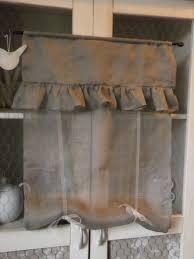 brise bise coeur rideau brise bise remontant en voile de lin textiles et tapis