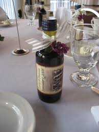 wine bottle wedding favors mini wine bottles with custom lables were a hit as favors a