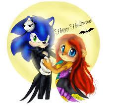 happy halloween by lilredgummie sonic y sally pinterest art