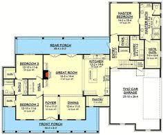 small farmhouse floor plans plan 51762hz budget modern farmhouse plan with bonus