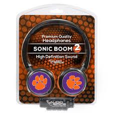 Clemson Flags Clemson Tigers Sonic Boom 2 Headphones Mobilemars
