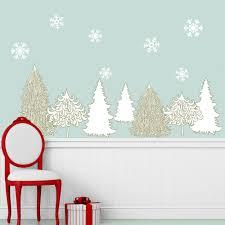 winter wonderland decal set holiday wall decor stickers snowflakes winter wonderland decal set holiday wall decor stickers snowflakes trees