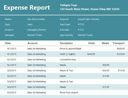 Detailed Expense Report Template by Expense Report Office Templates