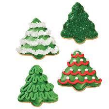 a grove of christmas tree cookies wilton