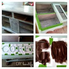 outdated hutch to coffee bar diy beautify