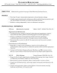 resume template for customer service resume for administrative customer service susan ireland resumes