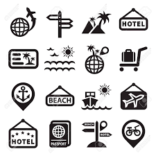 travel icons images Elegant travel icons set created for mobile web and applications jpg