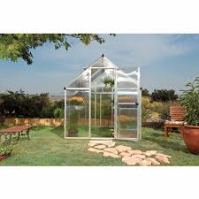 Palram Hybrid Greenhouse Palram Nature Series Mythos 6 U0027 X 8 U0027 Hobby Greenhouse Silver