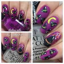 ehmkay nails witch hats halloween nail art
