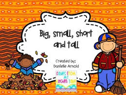 5 fall themed printable worksheets for recognizing big small