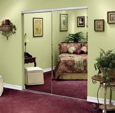 closet doors mirrored doors bypass frameless