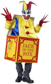 Evil Clown Halloween Costume Midnight Carnival Evil Clown Jester Jack Box Creepy