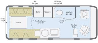 Type B Motorhome Floor Plans Paseo Floorplans Winnebago Rvs