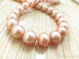 real pink pearl necklace images Fine pearls jewelry aaaaa 1712 13mm round real natural south sea jpg