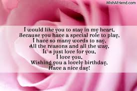 i would like you to stay birthday message