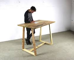 Timber Office Desk Reclaimed Timber Standing Office Desk With Timber A Frame Legs