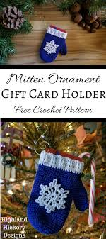mitten ornament gift card holder highland hickory designs