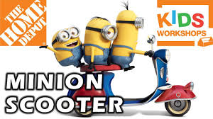 home depot kids workshop build minion scooter 07 04 2015 youtube