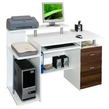 achat bureau informatique hjh office bureau table informatique stella blanc noyer