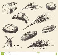 drawn bread loaf bread pencil and in color drawn bread loaf bread