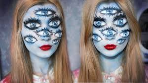 tim burton inspired halloween makeup the with many eyes