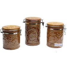 Western Kitchen Canister Sets by Tooled Ceramic Canister Set