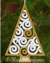 tree free standing lace ornament sku 10626