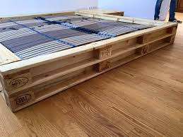 Pallet Platform Bed Pallet Platform Bed With Nightstands