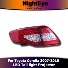 2010 toyota corolla brake light bulb nighteye toyota corolla tail lights 2007 2010 corolla led tail light