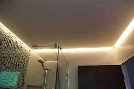 led strip in bathroom ceiling it used as main light our led