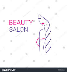 beautiful woman vector logo template hair imagem vetorial de banco
