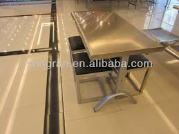 Steel Dining Table Legs Stainless Steel Dining Table Set Home Design Ideas