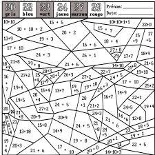coloriage magique maths ce2