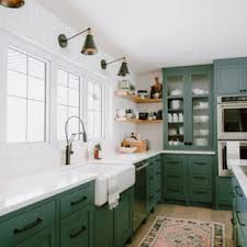 green kitchen cabinets with white countertops 75 beautiful kitchen with green cabinets pictures ideas