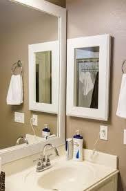 picture frame medicine cabinet how to frame a medicine cabinet bathroom design pinterest