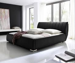 design polsterbett designer lederbett polsterbett schwarz braun mit lattenrost