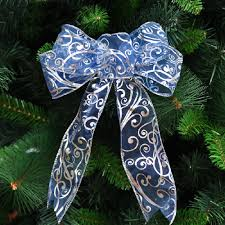 18 30cm blue butterfly ornament christmas tree bow decoration